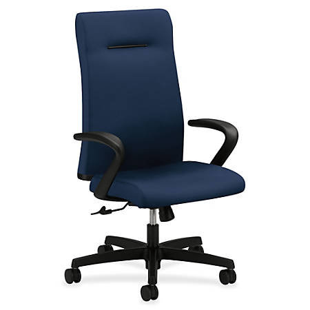 "HON Ignition Executive High-Back Chair - Fabric Navy Seat - 5-star Base - 20"" Seat Width x 18"" Seat Depth - 27"" Width x 38.5"" Depth x 47.5"" Height"