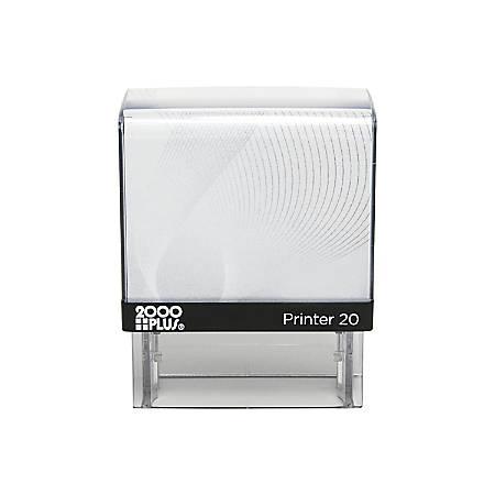 "Custom 2000 PLUS® Self-Inking Stamp, P20, 1/2"" x 1-7/16"" Impression"
