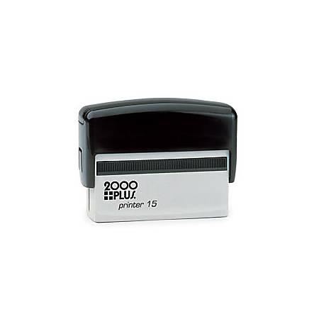 """2000 PLUS® Self-Inking Signature Stamp, P15, 3/8"""" x 2 11/16"""" Impression"""