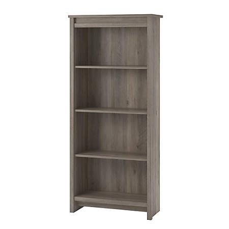 Ameriwood Home Bassinger 4 Shelf Bookcase Gray Oak