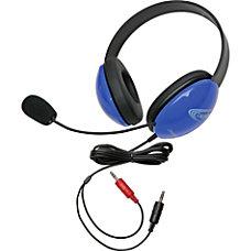 Califone Blue Stereo Headphone w Mic
