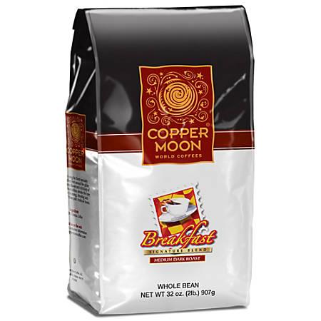 Copper Moon Coffee Whole Bean Coffee, Breakfast Blend, 2 Lb Per Bag, Case Of 4 Bags