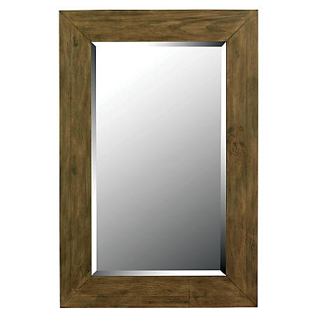 "Kenroy Home Wall Mirror, Eureka, 42""H x 28""W x 1""D, Dark Wood"