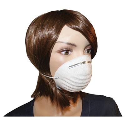 ProGuard Disposable Nontoxic Dust Mask - Disposable - Dust, Pollen  Protection - Polypropylene - White - 50 / Box Item # 667254