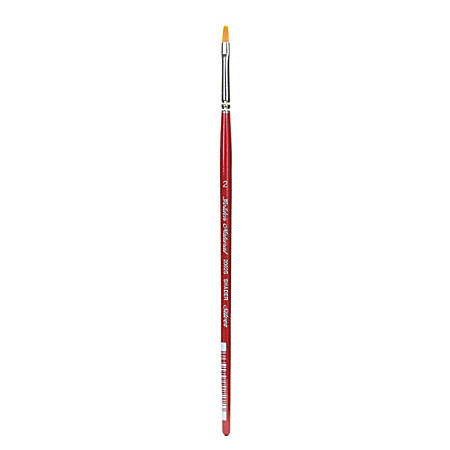 Silver Brush Golden Natural Series Paint Brush 20025, Size 2, Bright Bristle, Red
