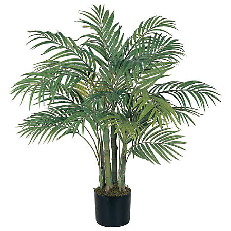 Nearly Natural 3'H Silk Areca Palm Tree With Pot, Green