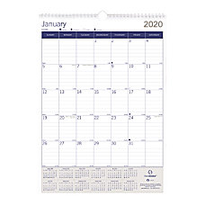 Blueline DuraGlobe Monthly Wall Calendar 17