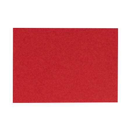 "LUX Mini Flat Cards, #17, 2 9/16"" x 3 9/16"", Ruby Red, Pack Of 250"