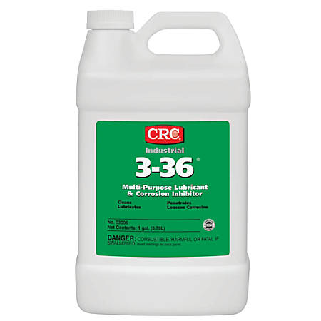 CRC 3-36® Multipurpose Lubricant And Corrosion Inhibitor, 128 Oz Bottle