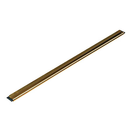 Unger® GoldenClip® Brass Channel With Rubber Blade And Clip, Black