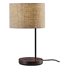 Adesso Oliver Wireless Charging Table Lamp