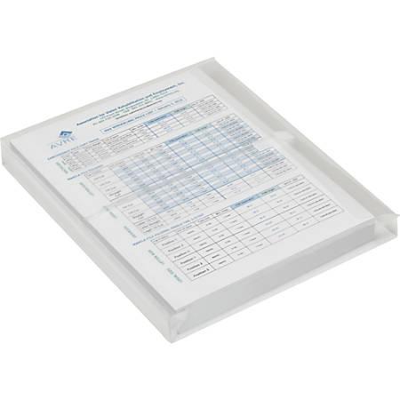 SKILCRAFT Hook/Loop Side-load Expansion Envelopes - Document - Letter - Hook & Loop - Polypropylene - 5 / Pack - Clear