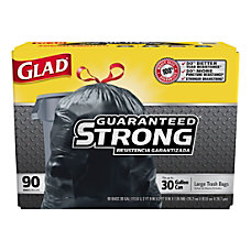Glad Drawstring Trash Bags 30 Gallons