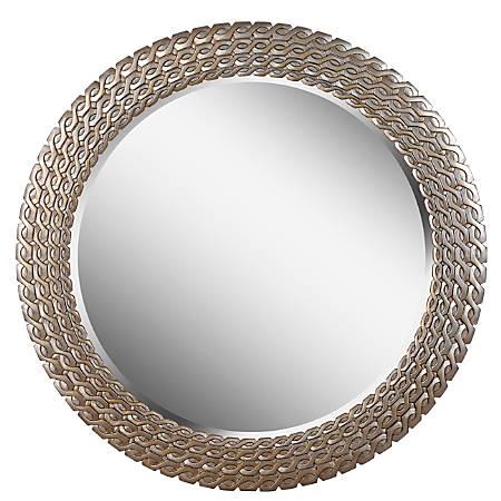 "Kenroy Home Wall Mirror, Bracelet, 35""H x 35""W x 1""D, Silver/Gold"