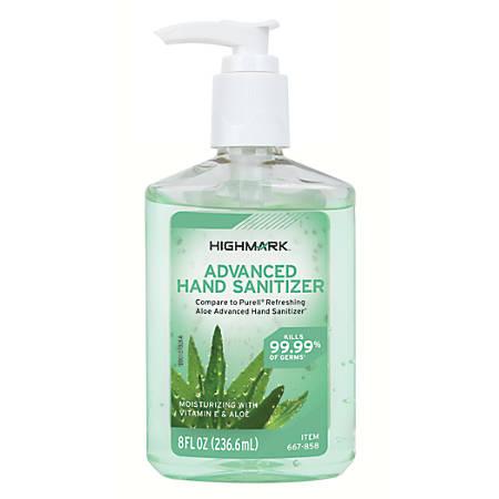 Highmark™ Hand Sanitizer With Aloe, 8 Oz