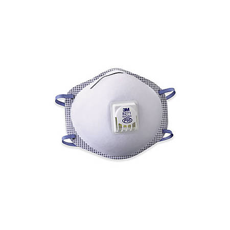 3M™ 8271 Oil-Proof Respirators With Valve, P95, Pack Of 80