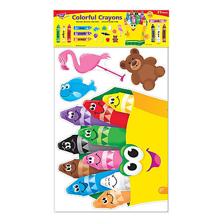 Trend® Colorful Crayons Bulletin Board Set, 21 Pieces