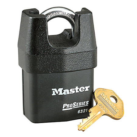 "Master Lock Pro Series Boron Alloy High Security Key Padlock, 7/8"" x 3/4"""