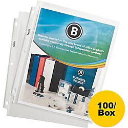 Business Source Top Loading Poly Sheet