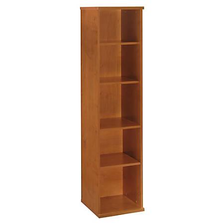 "Bush Business Furniture Components 5 Shelf Bookcase, 18""W, Natural Cherry, Premium Installation"