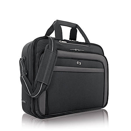 "Solo® Empire 17.3"" Briefcase, Black"