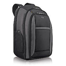Solo CheckFast 16 Laptop Backpack Black