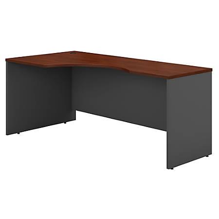 """Bush Business Furniture Components Corner Desk Left Handed 72""""W, Hansen Cherry/Graphite Gray, Premium Installation"""