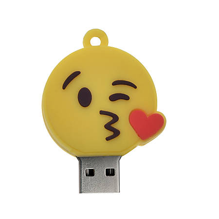 Digital Energy World USB 2.0 Flash Drive, 16GB, Kiss Face, DEX8-1054