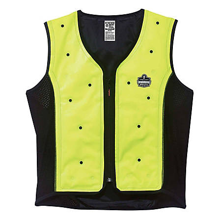 Ergodyne Chill-Its Evaporative Cooling Vest, Premium, X-Large, Lime, 6685