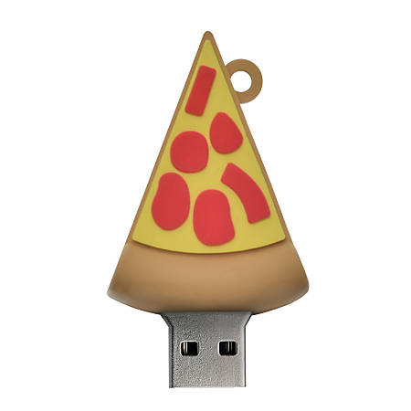 Digital Energy World USB 2.0 Flash Drive, 16GB, Pizza, DEX8-1058