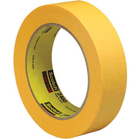 "3M™ 2460 Flatback Tape, 3"" Core, 1"" x 180', Gold, Pack Of 12"
