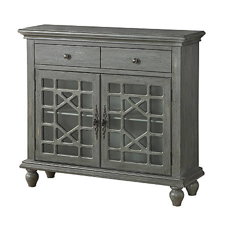 "Coast to Coast 2-Door Cupboard, 36-1/2""H x 40""W x 12""D, Gray"