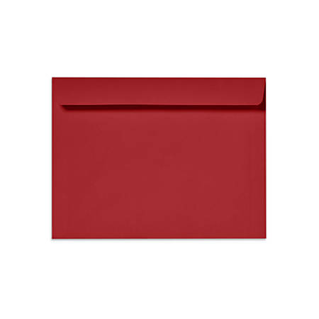"""LUX Booklet Envelopes With Moisture Closure, 6"""" x 9"""", Ruby Red, Pack Of 250"""
