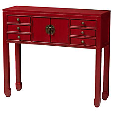 Baxton Studio Efe Console Table Red