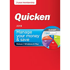 Quicken Deluxe 2018 For PCMac Traditional