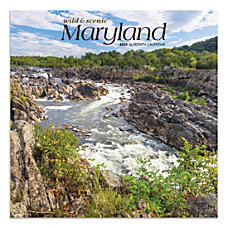 Brown Trout Monthly Wall Calendar Maryland