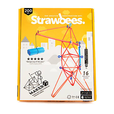 Strawbees 200-Piece Maker Kits, Case Of 36