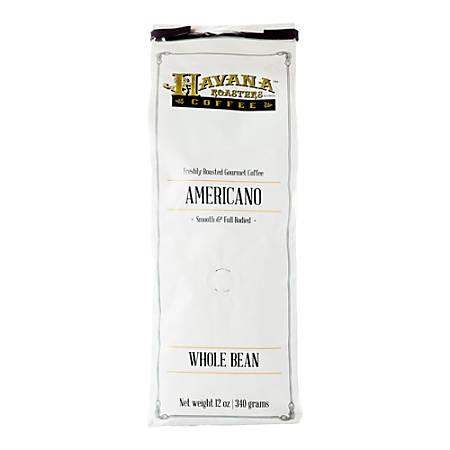 Havana Roasters Coffee Americano Whole Bean Coffee, 12 Oz, Pack Of 3 Bags