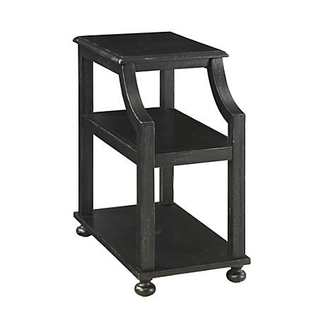 """Coast To Coast Chairside Accent Table, 26""""H x 14""""W x 24""""D, Black"""