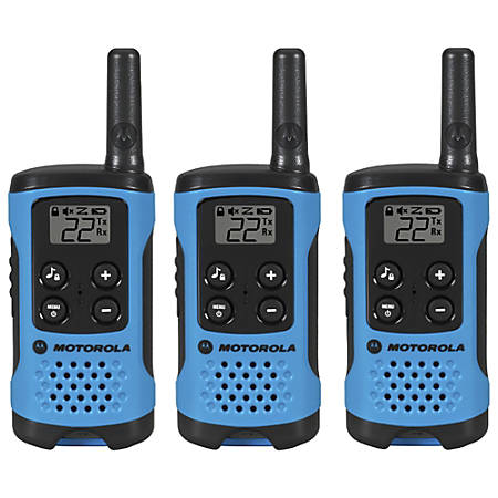 Motorola Talkabout 100 Two-Way Radio, Neon Blue