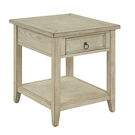 "Coast To Coast Summerville 1-Drawer End Table, 24""H x 22""W x 24""D, Off-White"