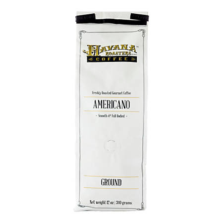 Havana Roasters Coffee Americano Ground Coffee, 12 Oz, Carton Of 12 Bags