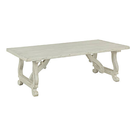 """Coast to Coast Orchard Park 54"""" Wood Cocktail Table, White"""