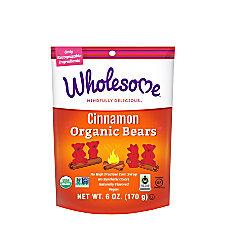 Wholesome Organic Cinnamon Bears 6 Oz
