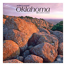 Brown Trout Monthly Wall Calendar Oklahoma