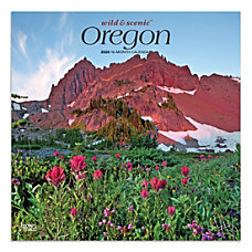 Brown Trout Monthly Wall Calendar Oregon