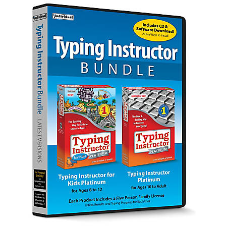 Individual Software Typing Instructor Bundle: Typing Instructor Platinum And Typing Instructor For Kids Platinum, Traditional Disc