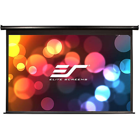Elite Spectrum Series Electric100H-AUHD - Projection screen - ceiling mountable, wall mountable - motorized - 100 in (100 in) - 16:9 - AcousticPro UHD - black