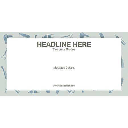 Custom Horizontal Banner, Salon Tools