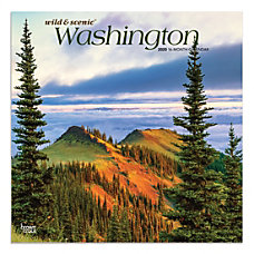 Brown Trout Monthly Wall Calendar Washington